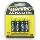 4 Pack AA Batteries Raymax