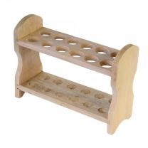 Wooden Test Tube Rack, 12 Hole, 2 Rows