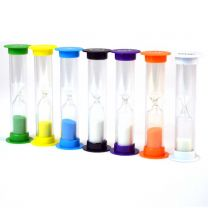 Sand Timer, Plastic, Mini, Set of 7