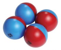Giant Magnetic Pole Marbles - 4 pack