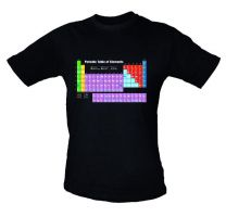 T Shirt, Periodic Table Adult Sizes