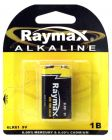 9V Raymax Alkaline Battery 1 Pack