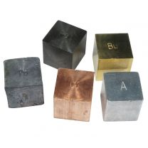 25mm Density Cubes - 5 Metals