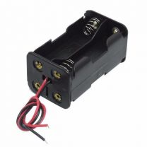 Battery Holder, 4 x AA, Back to Back