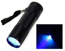UV Torch, 9 LED, 395nm Black Light