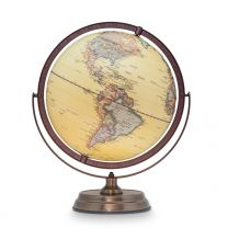 Embossed Globe Metal Base - 30cm