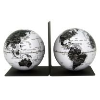 Magentic Globe Bookends - Black & White