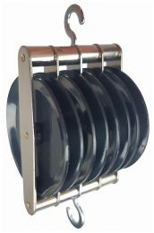 Pulley, Quadruple Parallel, ABS Plastic