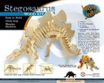 Wood Craft Kit, Small Stegosaurus